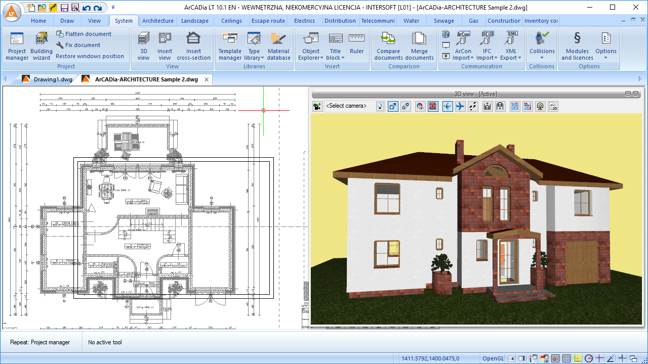 Arcadia lt 2d cad software for construction engineers for Construction drawing program